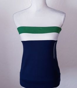 Old Navy Blue, Green and White tube top